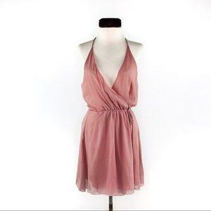 Tobi Blush Pink Grecian Toga Wrap Dress